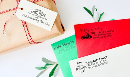 One, Two, or Three Personalized Holiday Stamps from 2712 Designs (Up to 72% Off)