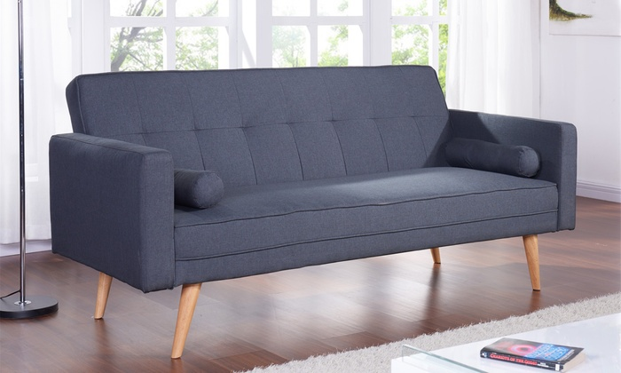 Groupon Goods Global Gmbh Burgess Fabric Sofa Bed In Choice Of Colour With Free Delivery
