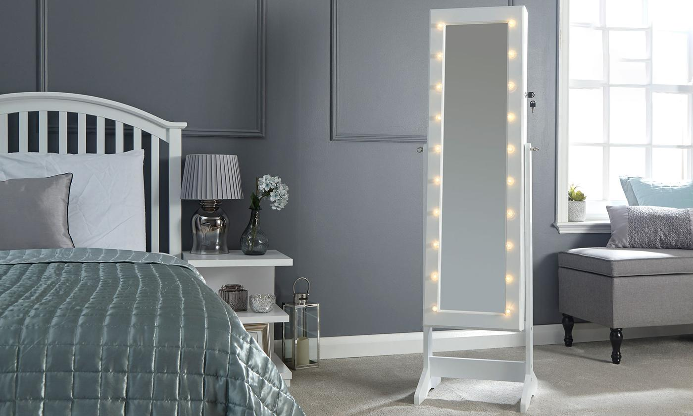 led jewellery armoire