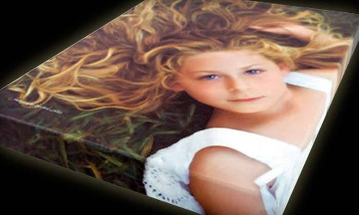 "North Shore Studios: $39 for a 16""x20""x1.75"" Custom Gallery-Wrapped Canvas from North Shore Studios ($125 Value)"