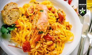Borgo di Mare: Menu di pesce di 4 portate come fritto misto o tagliata di spada e vino (sconto fino a 66%)