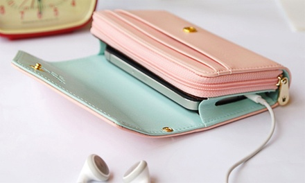 Portemonnaie mit Smartphone-Fach 9,98 € -Bekleidung und accessoires - brieftaschen, portemonnaies und geldscheinklammern