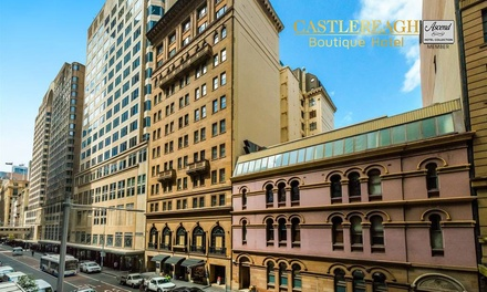 Sydney CBD: 1 to 3 Nights for Two with Late CheckOut and Food and Beverages Discount at Castlereagh Boutique Hotel