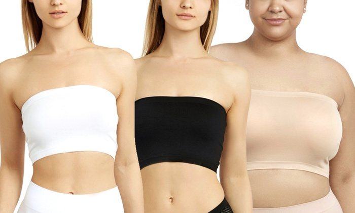 8a2f485945f Women s One-Size Regular or One-Size Plus-Size Bandeau (6-Pack ...