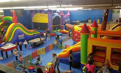 image for Fantastic Indoor Inflatable World Ticket for One or Family of Four to Ten
