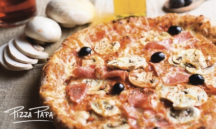 Menu «Trio» en 3 services pour 2 ou 4 pers., dès 19,90 € dans l'un des restaurants Pizza Papa participants