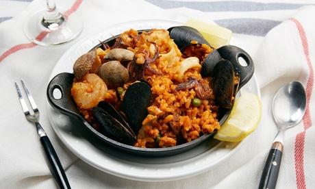 Menú para 2 o 4 con entrante, arroz a elegir, postre y botella de vino desde 24,95 € en La Recoleta Mediterránea