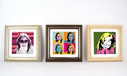 One or Two Regular or Large Personalised Pop-Art Framed Prints from Artf.ly (Up to 92% Off)