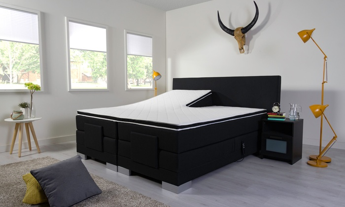 jusqu 39 69 sommier lectrique optima luxery groupon. Black Bedroom Furniture Sets. Home Design Ideas