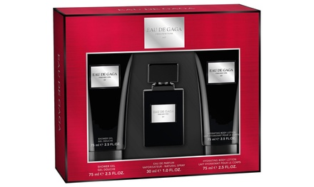 Lady Gaga EDP Spray, Body Lotion and Shower Gel Gift Set from £10.99 (Up to 60% Off)