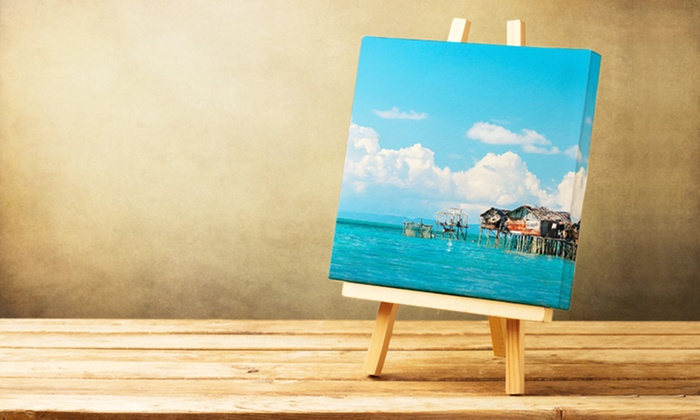 Custom Canvas Wall Art custom canvas prints - photobook canada | groupon