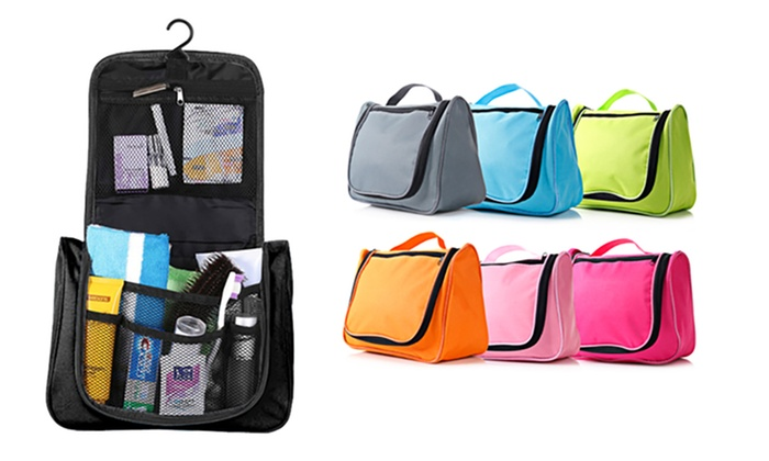 One, Two or Three Waterproof Hanging Toiletry Bags