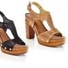 Eddie Marc Renata Women's High-Heeled Block Sandals