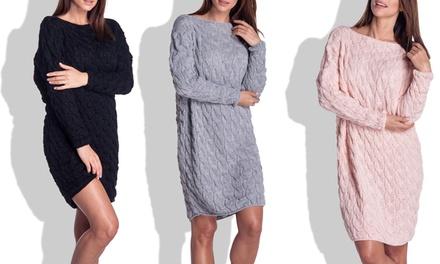 Elodie Strickkleid in Schwarz, Grau oder Pink (67% sparen*)