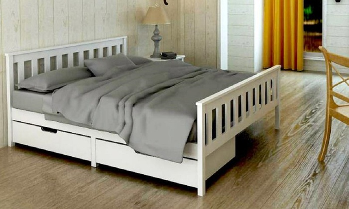 Solid Pine Wood Bed Frame