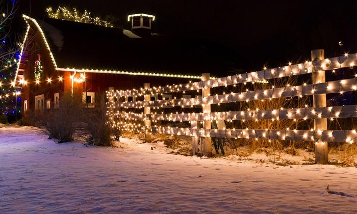 String Lights Vistaprint : 3-Pack Solar 50-, 100-, or 200-LED Outdoor Holiday String Lights Groupon