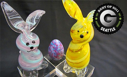 Blow-Your-Own Glass Bunny Activity (a $69.95 value) - Uptown Glassworks in Renton