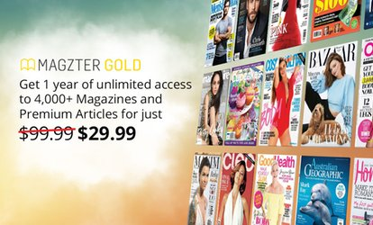 $29.99 for 12 Months of Unlimited Online Magazines from Magzter (Up to $99.99 Value)