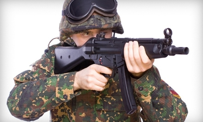 Lazer Wars / BattlegroundZ Paintball - Attleboro: $25 for All-Day Pass of Airsoft, Including Equipment Rental, at BattlegroundZ.net in Attleboro (Up to $52.95 Value)