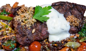 The Mixx Grill & Lounge: Eclectic Food at The Mixx Grill & Lounge (38% Off). Two Options Available.