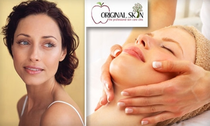 Original Skin - Main Street Exchange: $55 for a Custom Organic Facial with Eye-Lift Treatment and Rejuvenating Hand Treatment at Original Skin ($115 Value)