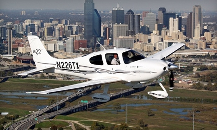PlaneSmart! Aviation - Addison: $149 for Private Plane Orientation and Flight at PlaneSmart! Aviation in Addison ($324 Value)