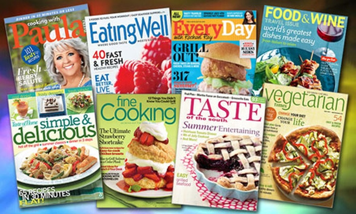 Cooking and Food Magazine Subscriptions from Blue Dolphin Magazines. Eleven Titles Available.