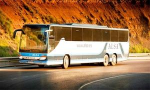 Alsa: Paga desde 3€ y obtén un descuento de 50% en billete de autobús con Alsa ruta entre España y Portugal