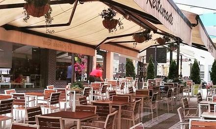 Menú mediterráneo para 2 con platos a compartir, postre y bebida o botella de vino desde 29,95 € en La Cañada Real
