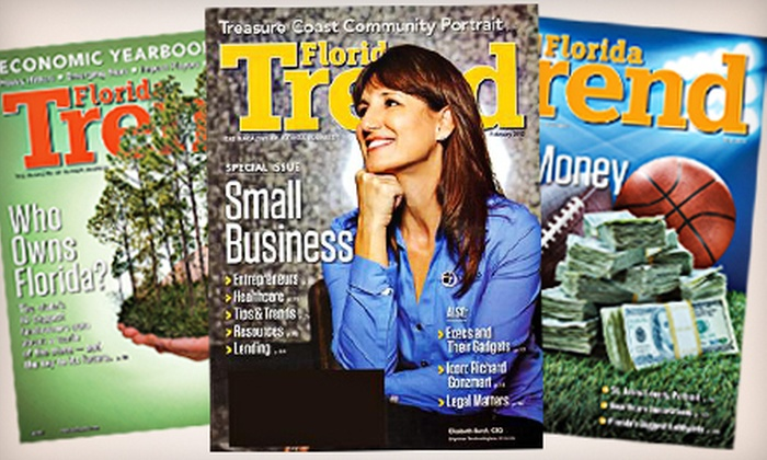"Florida Trend: $7 for a One-Year Subscription to ""Florida Trend"" (Up to $29.95 Value)"