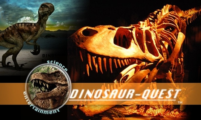 Dinosaur-Quest - Downtown: Half Off Ticket to Dinosaur-Quest at the Rivercenter Mall. Choose One of Two Ticket Types.