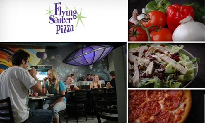 Flying Saucer Pizza - Willow -  Rose Hill: $10 for $25 Worth of Personal Pies at Flying Saucer Pizza