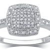 0.15 CTTW Diamond Square Frame Engagement Ring in 10K Gold