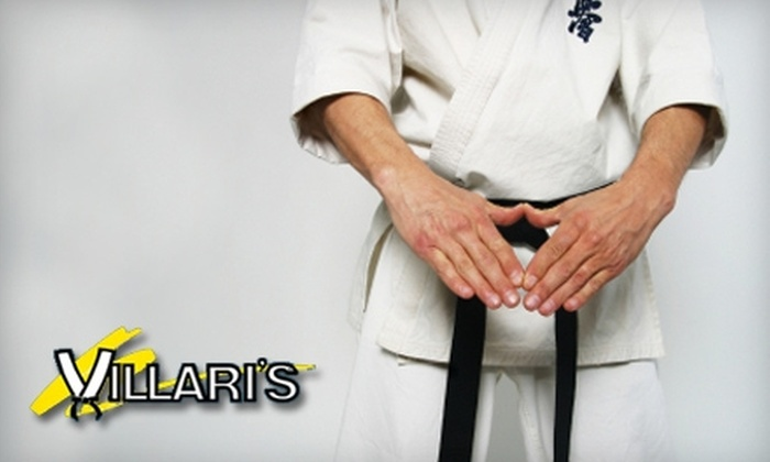 Villari's Martial Arts - Multiple Locations: $29 for Two Months of Karate Lessons and Uniform at Villari's Martial Arts Center ($249 Value). Choose One of 13 Locations.