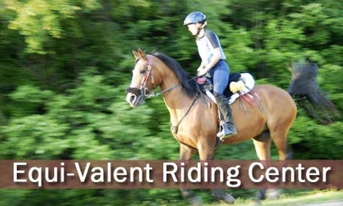 Equi-Valent Riding Center - Liberty: $30 for One-Hour Private Riding Lesson from Equi-Valent Riding Center ($62 Value)