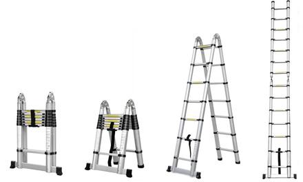Escalera telescópica en aluminio