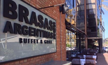 Desde $549 por almuerzo o cena libre + entrada + postre + copa de despedida para dos o cuatro en Brasas Argentinas Sur