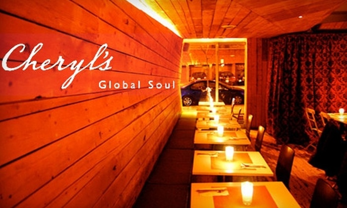 Cheryl's Global Soul - Prospect Heights: $15 for $35 Worth of Dinner Comfort Fare and Drinks at Cheryl's Global Soul in Prospect Heights (or $7 for $15 Worth of Lunch)