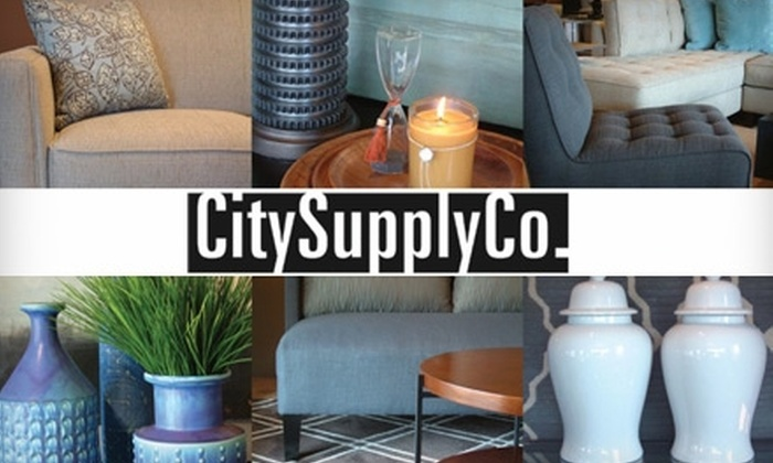 City Supply Co. - Commonwealth: $25 for $100 Worth of Furniture, Lighting Fixtures, and Rugs at City Supply Co.