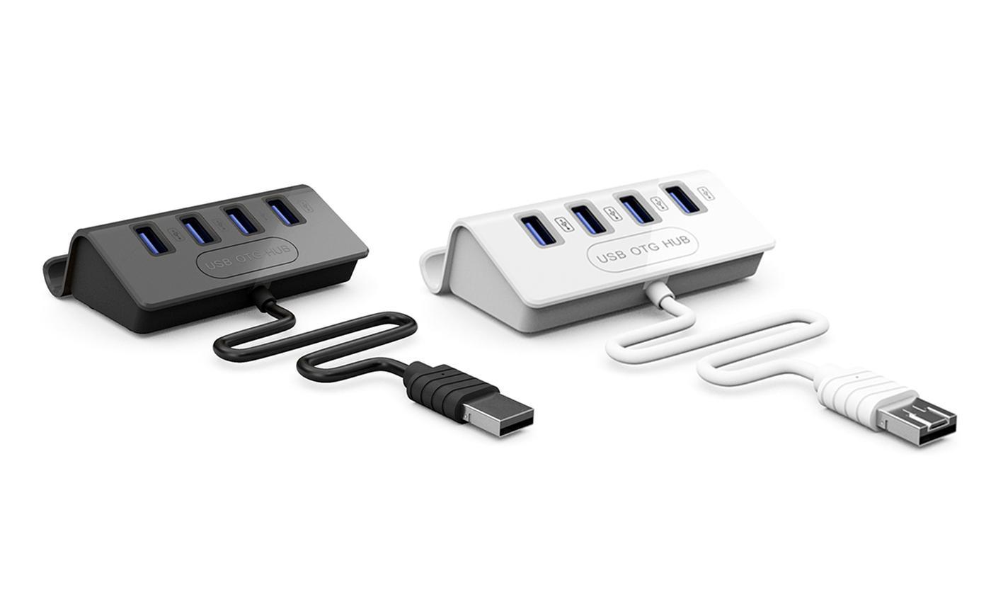 USB Hub with Phone Holder
