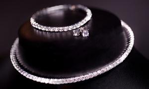 Parure de bijoux ornés de cristaux Swarovski®