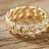 Barzel Cubic Zirconia Braided Ring in 18K Gold Plating