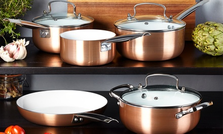 Two, Three or FivePiece Copper Ceramic Pan Set