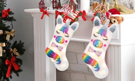 Calze natalizie a forma di unicorno