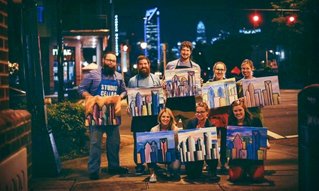 Paint and Sip Experience with Wine at Studio Cellar (Up to 44% Off). Three Options Available. photo