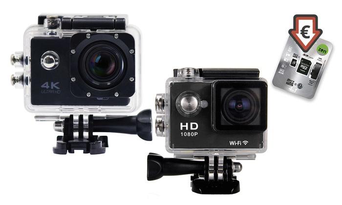 Action Cam HD720p Full HD1080p ou UHD4K avec cran LCD inclus et Wifi options au choix dès 2999 € (jusquà 83%)