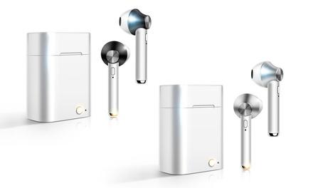 1 ou 2 paires d'écouteurs Bluetooth sans fil avec boîte de charge 500 mAh