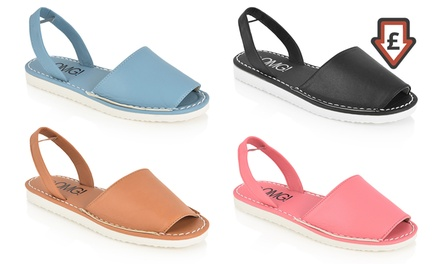 Women's Flat Slingback Sandals in Choice of Colour and Size for £5.99