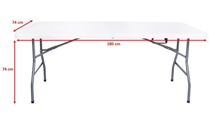 Table Buffet Pliante Multifonction 180 Cm