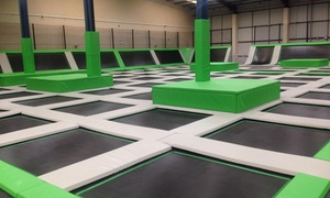 Ascent Trampoline Park: One-hour Jump Session for Up to Four With Jump Socks Each and Drink at Ascent Trampoline Park (Up to 32% Off)